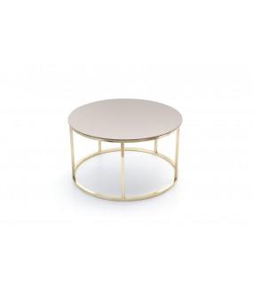 Table basse mondo verre bronze